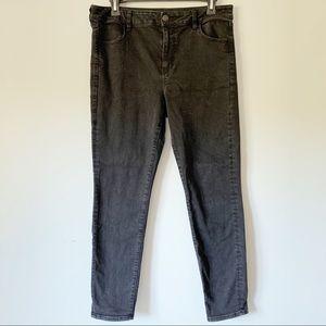 American Eagle Black Denim Jeans Hi-rise Jegging